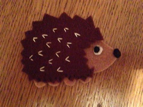 felt pattern hedgehog felt hedgehog my crafts pinterest felt and hedgehogs