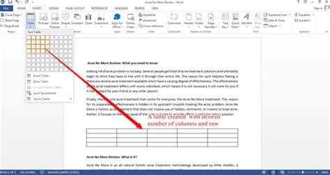 Create Table Of Contents In Word 2013 by How To Insert A Table In Word 2013 Tutorials Tree Learn