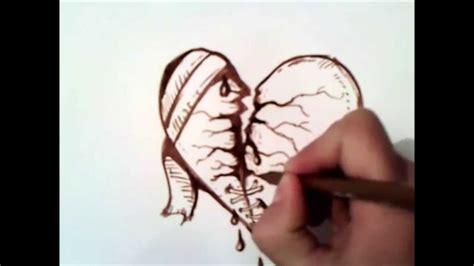 imagenes de corazones rotos por amor para dibujar como dibujar un corazon roto paso a paso como dibujar un
