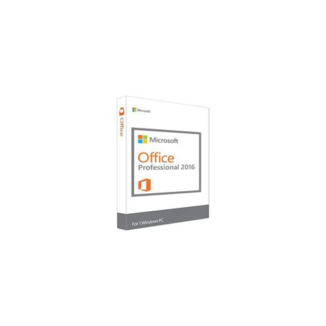 Microsoft Office For Pc Microsoft Office Professional 2016 For 1 Pc