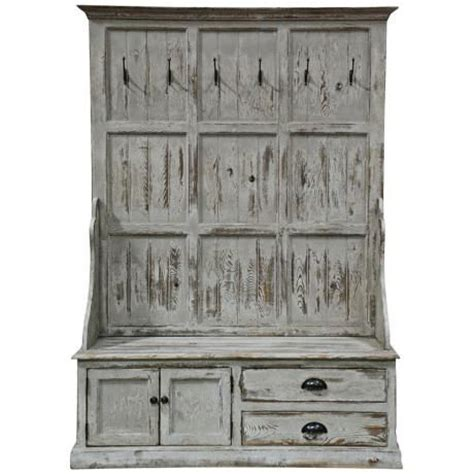 entryway bench with storage and hooks distressed entry storage bench hooks entry