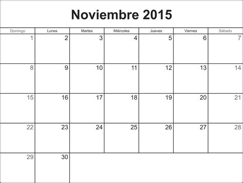 Calendario Mes De Noviembre 2015 Calendario Noviembre 2015 Coloring Pages
