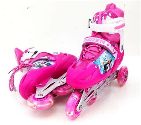 Sepatu Roda Inline Skate Frozen detail sepatu roda inline frozen pink toko bunda