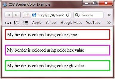 border color html css border color