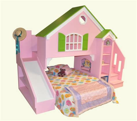 Dollhouse Loft Bed Twin Over Full Doll House Bunk Beds
