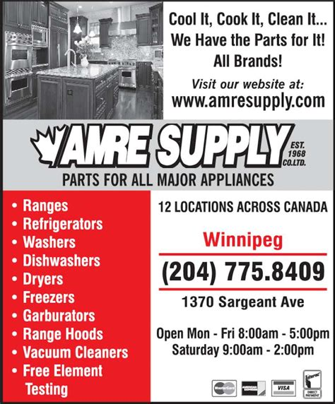 Plumbing Supplies Winnipeg by Amre Supply Co Ltd Winnipeg Mb 1370 Sargent Ave