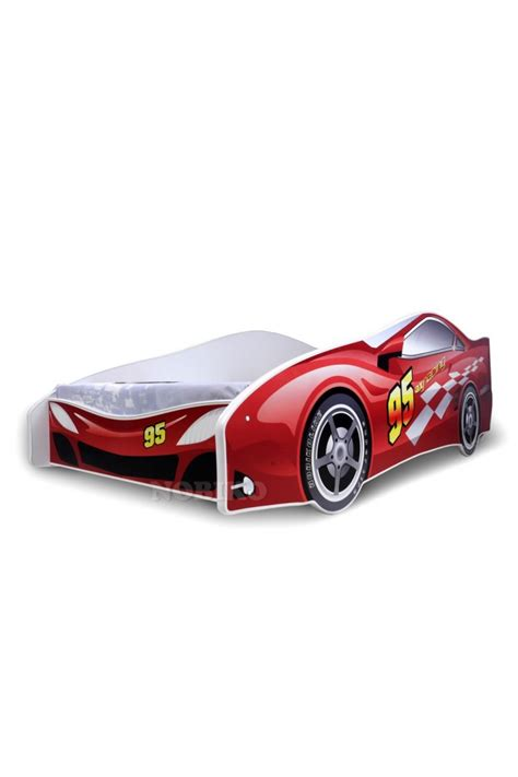 red race car bed red racing car junior bed with mattress 180x80