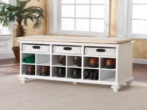 Foyer Storage Bloombety Entryway Bench With Storage With Leather Shoes