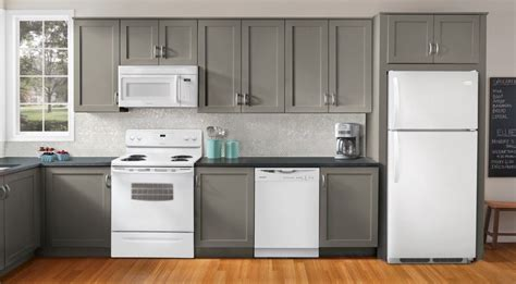 Designed Kitchen Appliances Kitchen Ideas Decorating With White Appliances Painted Cabinets