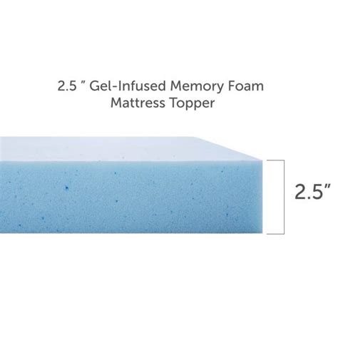 2 Inch Gel Memory Foam Mattress Topper by Reviews