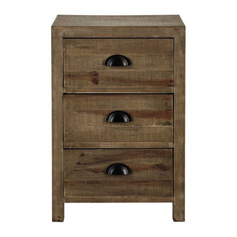 Wood Bedside Drawers Wooden Bedside Table With Drawer W 40cm Woodpecker