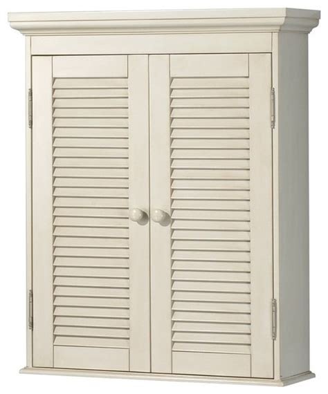 antique white bathroom wall cabinet foremost ctaw2429 cottage wall cabinet in antique white