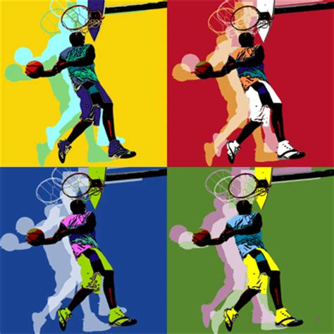 Basketball Pop Art Paintings | popartworks basketball player pop art warhol style poster