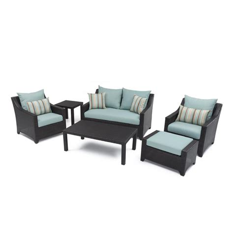 rst brands deco 6 patio seating set with bliss blue