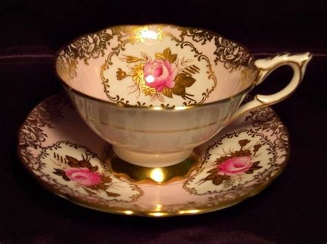 Tea Cup Cabinet by Royal Stafford Cabinet Tea Cup Saucer Pink