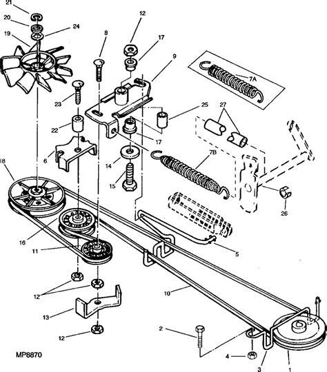 deere belt diagram i need a diagram for the drive belt on a deere lx188