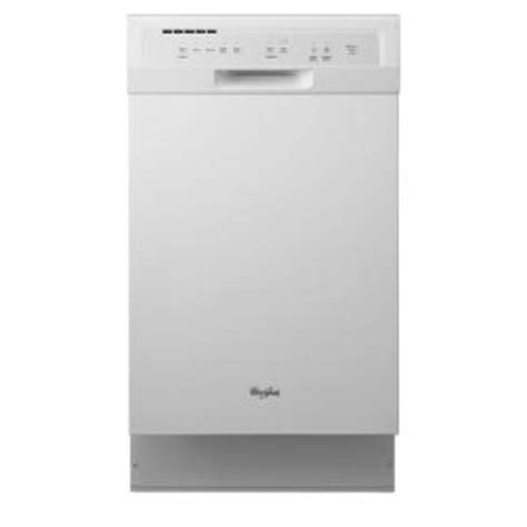 whirlpool 18 in front dishwasher in white with