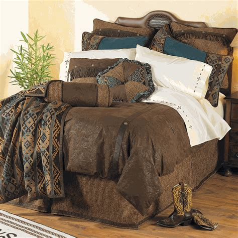 western bedding queen size del rio bed setlone star western decor