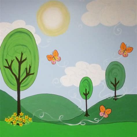 day care murals cartoon park mural ellen leigh
