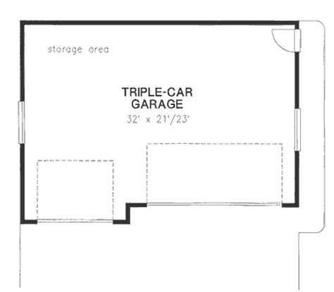 size of 3 car garage garage plan 58724 order code 08web at familyhomeplans com