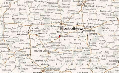 kentucky map elizabethtown elizabethtown kentucky location guide