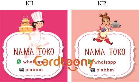 Sticker Stiker Nama Untuk Souvenir Atau Label jual sticker stiker label nama toko kemasan produk makanan koki cardtoony