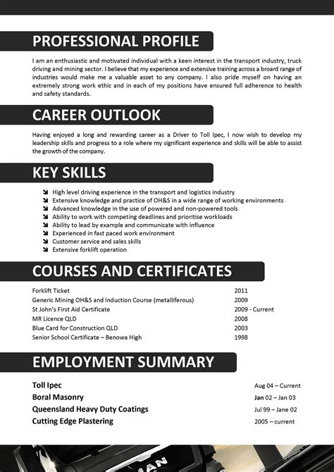 Resume Templates Driver we can help with professional resume writing resume
