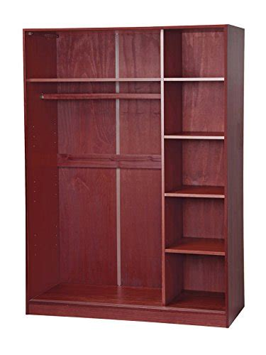 Small Wardrobe With Shelves Palace Imports 5672 3 Sliding Door Solid Wood Wardrobe