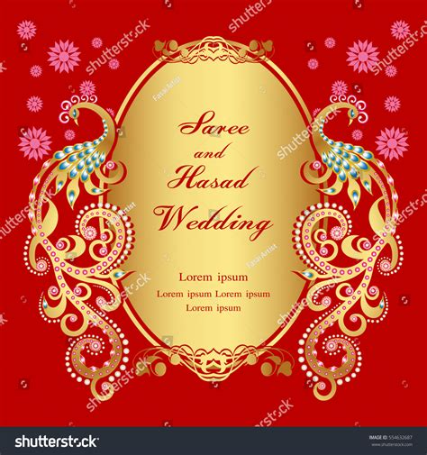classic wedding card template vintage invitation wedding cards template frame stock