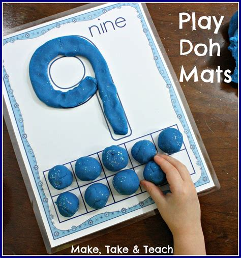 Play Doh Number Mats by Diy Play Doh Recipe Make Take Teach
