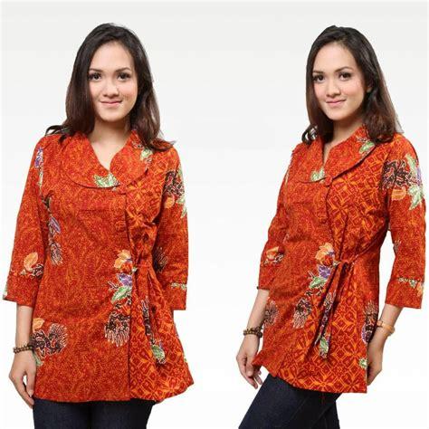 Hem Pink Kancing Depan ッ 23 model baju kemeja batik untuk wanita kancing sing modern trendy