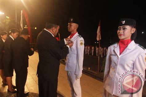 Bendera Regu Cempaka dikukuhkan 75 paskibraka gianyar siap bertugas antara news bali