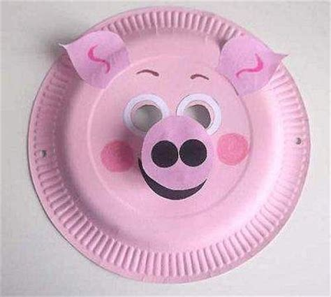 How To Make Animal Mask With Paper Plate - best 25 pig mask ideas on saw pig mask peppa