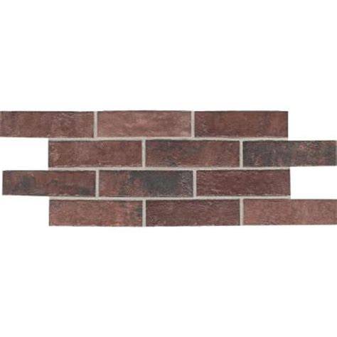 Home Depot Brick Tile by Daltile Union Square Courtyard 4 In X 8 In Ceramic