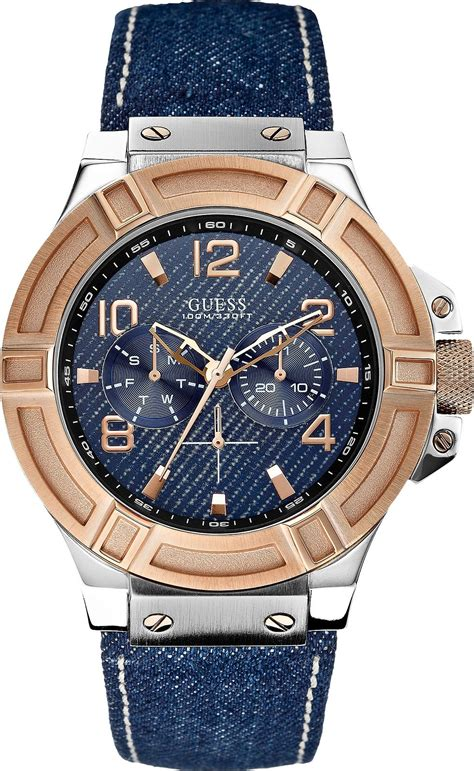 Jam Tangan Marco Jacob Denim Blue guess u0040g6 quot gunmetal rigor quot s 45mm