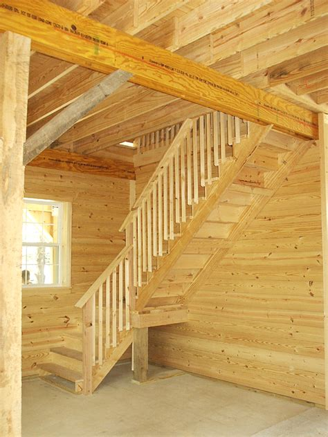 Garage Stairs Design Loft Stair Design For 12 High Walls When Barn Is Built With Higher Walls Stair Landing Must Be