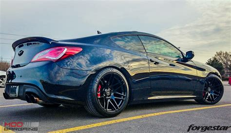 Black Hyundai Genesis Coupe by Forgestar F14 Wheels For Hyundai Genesis Coupe 18in 19in