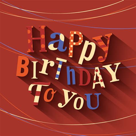 happy birthday cards creative vector 03 vector card free