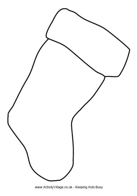 large christmas stocking coloring page christmas stocking template large