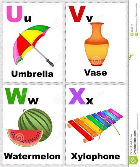 printable flash cards a to z alphabet flashcards stock illustration illustration of