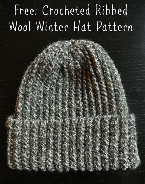 pattern crochet a hat crochet pattern ribbed wool winter hat margeaux vittoria