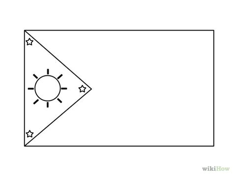 Philippine Flag Free Coloring Pages Philippines Flag Coloring Page
