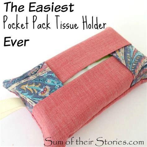 pattern for small kleenex holder the easiest pocket pack tissue holder ever tissue