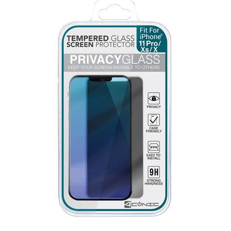 iphone  pro xs  tempered glass privacy screen