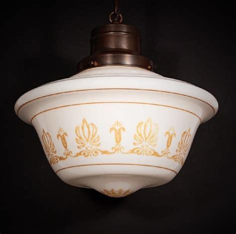 Milk Glass Light Fixtures Large Antique Neoclassical Pendant Light Fixture With Original Milk Glass Shade For Sale
