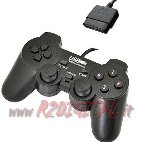 E Smile Gamepad Pc Dual Shock Controller joypad ps2 joystick controller vibrazione dual shock cavo