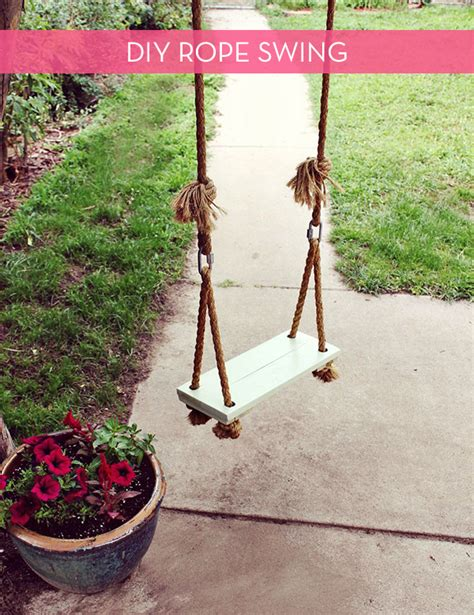 make your own swing how to make your own diy tree swing curbly