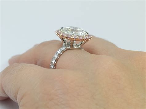 engagement ring pink halo engagement ring for