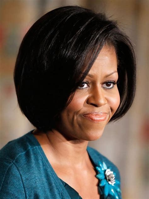 michelle obama verizon center michelle obama hairstyles chic short bob haircut