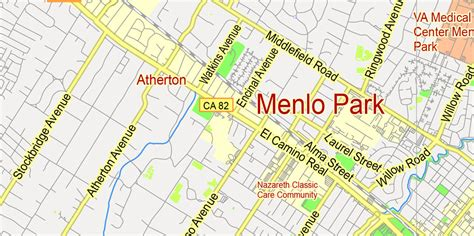menlo park california map printable map menlo park us ca g view level 13 ai pdf 6